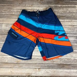 🆕Billabong Beach Shorts Blue & Red & Orange